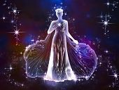 stock photo of virgo  - The beauty and tenderness of the universe - JPG