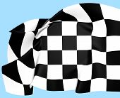 Auto Racing Chequered Flag