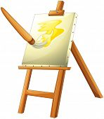 Illustration of a painting board on a white background