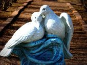 Two turtle dove statue