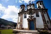 foto of assis  - View of the Igreja de Sao Francisco de Assis of the unesco world heritage city of ouro preto in minas gerais brazil - JPG