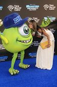 LOS ANGELES - JUN 17: Alessandra Ambrosio, Mike Wazowski at The World Premiere for 'Monsters University' at the El Capitan Theater on June 17, 2013 in Los Angeles, California