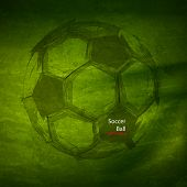 Vector Watercolor Soccer Ball, easy all editable