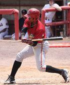 Altoona Curve batter Mel Rojas