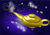 picture of genie  - magic lamp - JPG