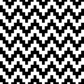 Abstract geometric pixelated zigzag seamless pattern in black and white, vector
