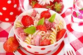 Fusilli Pasta With Strawberry For Child