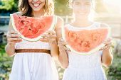 picture of watermelon  - Eating a watermelon - JPG