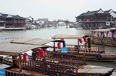 Boats And Canal, Zhujiajiao, China