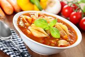 Minestrone - Italian Soup With Veggies