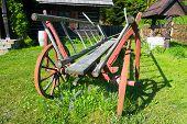 Old Wood Coach Wheel