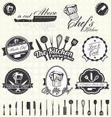 Vector Set: Retro Master Chef Labels