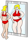 Mulher grossa e fina