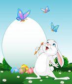 Huevos de Pascua de pintura de conejito de Pascua