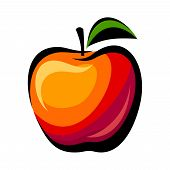 Apple. Vector illustration.