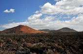 Lanzarote its volcanoes and stone fields of clinker