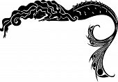 Meerjungfrau-Silhouette