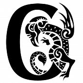 Dragon Letter C