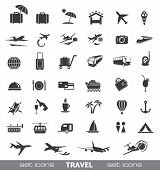 Travel Icons. Vector set.
