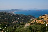 Coast Of Girona From Begur Castle At Catalonia Spain