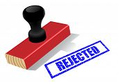 picture of rejection  - Wooden rubber stamp with  - JPG