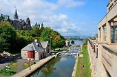 Rideau Canal and Ottawa city view