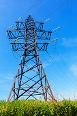 High Voltage Line And Blue Sky