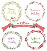 Four Seasons Floral Wreath