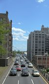 New York City traffic on Brooklyn-Queens Expressway