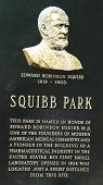Dr. Edward Squibb memorial at Squibb Park in Brooklyn