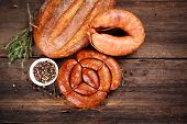 stock photo of charcuterie  - Sausage - JPG