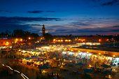 El Jemaa el fna sqare, Marrakesh. Motion blur