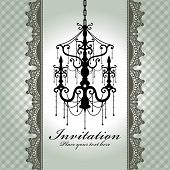 Luxury Chandelier Background With Lace
