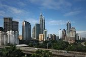 image of petronas twin towers  - Kuala Lumpur Cityscape with twin tower and other - JPG