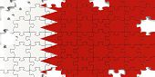 Bahrain National Flag