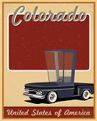Colorado road trip vintage poster