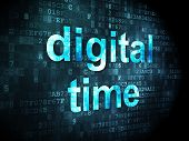 Timeline concept: Digital Time on digital background