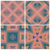 Colorful Art Deco pattern set