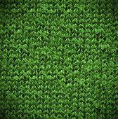 Macro Green Of A Grey Cotton Texture