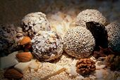 Sweets Balls With Walnuts And Almonds