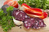 Summer Sausage And Vegetables.