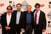 Emilio Estevez, Ramon Estevez, Martin Sheen, Charlie Sheen at the AARP Movies For Grownups Premiere of