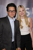 J.J. Abrams, Elle Fanning at the
