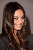 Mila Kunis at the Jaguar Land Rover Preview Reception For 2011 Los Angeles Auto Show, Two Rodeo, Bev