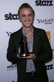 Tom Felton at the 15th Annual Hollywood Film Awards Gala Press Room, Beverly Hilton Hotel, Beverly Hills, CA 10-24-11