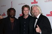 will.i.am, Richard Branson and son Sam Branson at the 5th Annual Rock The Kasbah Fundraising Gala, B