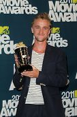 Tom Felton at the 2011 MTV Movie Awards Press Room, Gibson Amphitheatre, Universal City, CA. 06-05-11