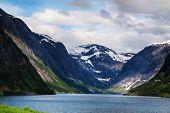 Mountain lake in Norway