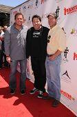 Bob Guiney, James Denton and Greg Grunberg at Teri Hatcher's Red Carpet Yard Sale benefiting St. Jud