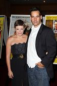 Natalie Maines and Adrian Pasdar at the First-Day-of-Issue Ceremony for the Gregory Peck Forever Stamp, Academy of Motion Pictures Arts and Sciences, Beverly Hills, CA. 04-28-11